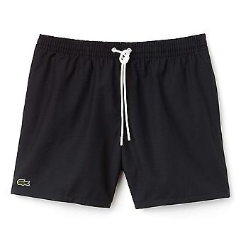 Lacoste Cotton Taffeta Swim Shorts, Black, X Large
