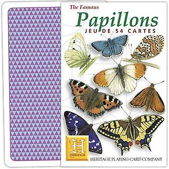 Papillons (französische Sprache) Satz von 52 Spielkarten (+ Joker)