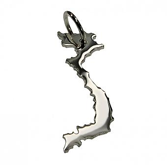 Trailer map VIETNAM pendant in solid 925 Silver