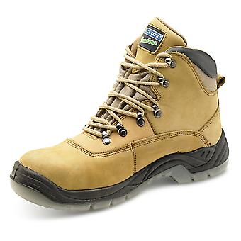 Click Thinsulate Safety Boot Nubuck Brown S3 - Ctf25