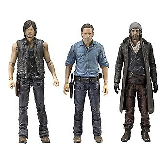 The walking dead action figures allies Rick, Daryl & Jesus 3 Pack, size 5. Material: Plastic, manufacturer: McFarlane.
