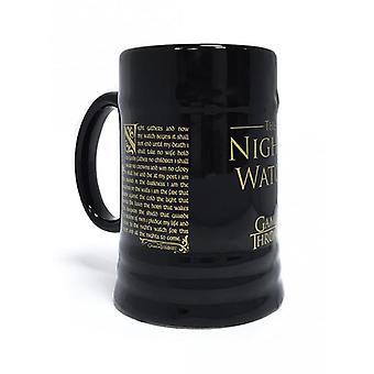 Game of Thrones beer Stein the night's Watch (NightWatch) black, printed, ceramic.