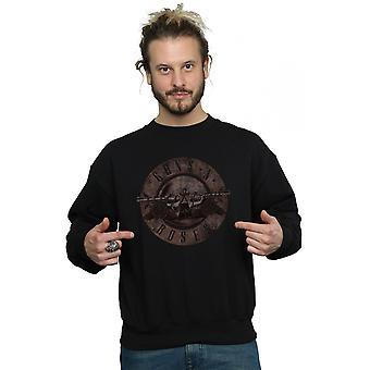Guns N Roses seppia Bullet Logo Felpa