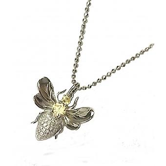Cavendish French Topaz Cubic Zirconia Honey Bee Pendant without Chain