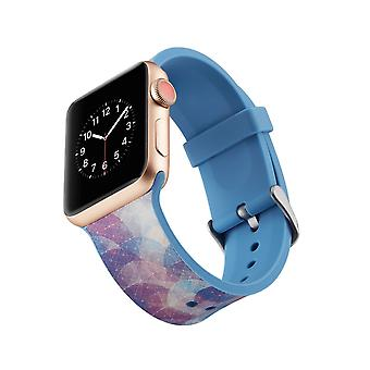 Silicone klockrem for Apple Watch 4 3/2/1 44 mm, 42 mm-Colorful Circles