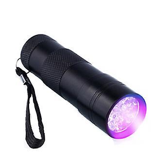 9 x UV LED-UV-Taschenlampe & kleine glatt