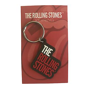 The Rolling Stones Keyring Keychain classic Band Logo new Official Rubber