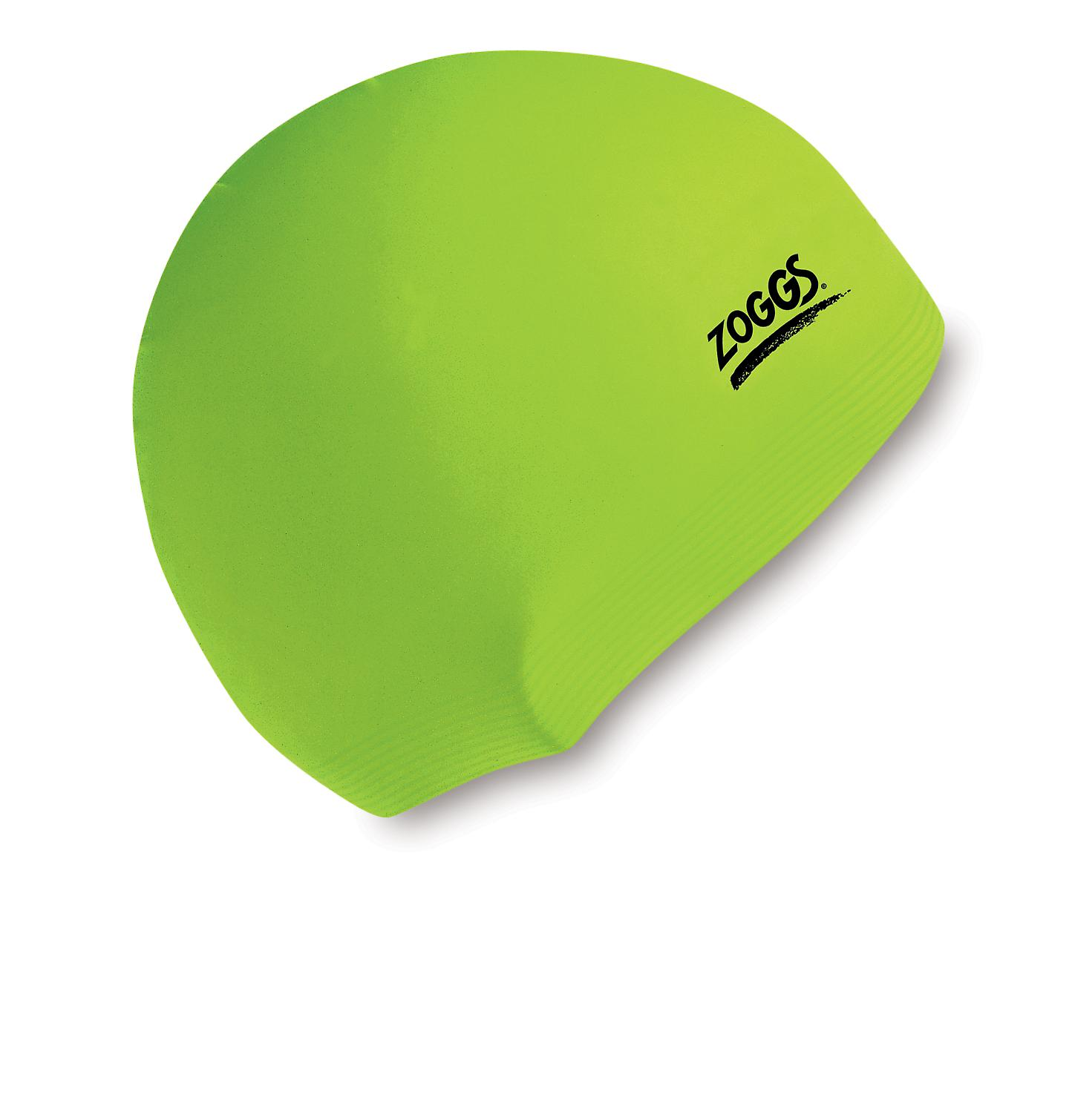 Zoggs Junior Latex Swimming Cap - Green
