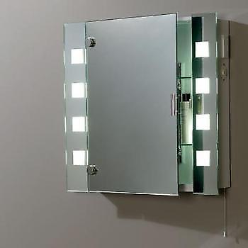 Endon EL-MILOS Enluce Bathroom Mirror With 8 Frosted Square Lights