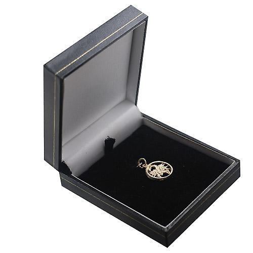 9ct Gold 11mm pierced Scorpio Zodiac Pendant