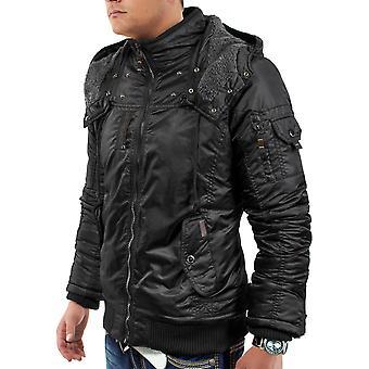 Men's Winter Jacket Blade Core Biker Parker quilted design hood
