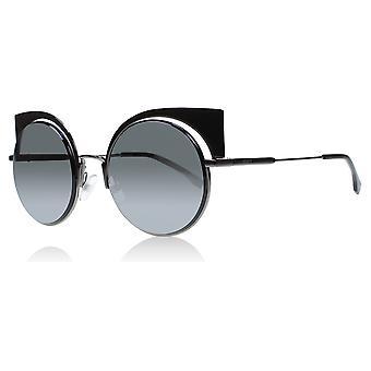 Fendi FF0177/S KJ1T4 Gunmetal FF0177/S Round Sunglasses Lens Category 3 Lens Mirrored Size 53mm
