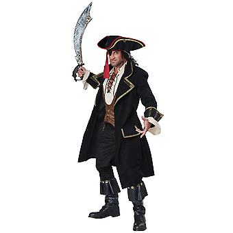 Deluxe Pirate Captain Hook Cutthroat Jack Sparrow Carribbean Mens Costume