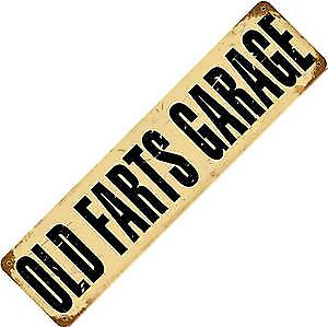 Old Farts Garage rusted metal sign (pst20*5)