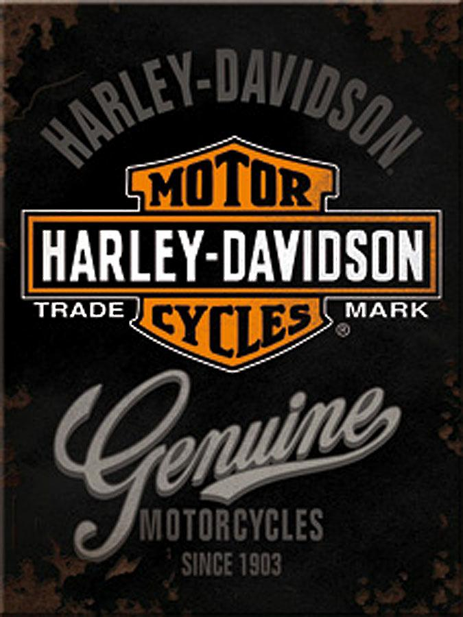Harley Davidson Genuine steel fridge magnet (na)