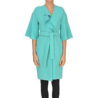 Pinko Green Polyester Outerwear Jacket