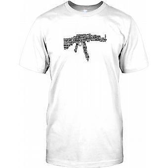 AK47-Wortwolke - Anti-Gun Kinder T Shirt