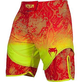 Venum Mens Fusion Fight Shorts - Orange/Yellow