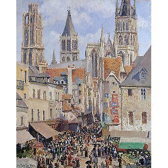Rue de jeg-Epicerie, Rouen, Camille Pissarro, 50x40cm
