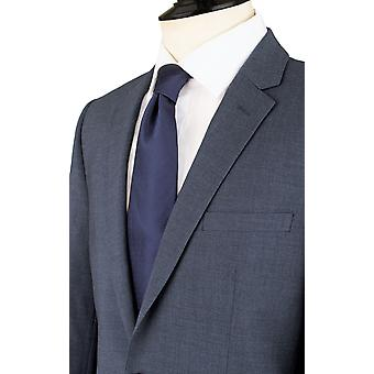 Dobell Herre Mississippi blå 2 Piece Suit Slim Fit Notch revers