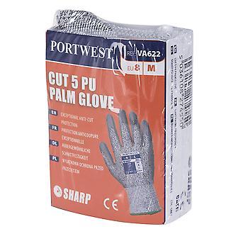 Portwest Mens Automaten LR schneiden Stufe 5 PU Palm Handschuhe