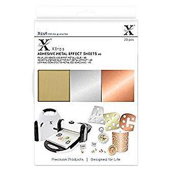 Xcut Xtra A5 Adhesive Metal Effect Sheets (20pcs) (XCU 174409)