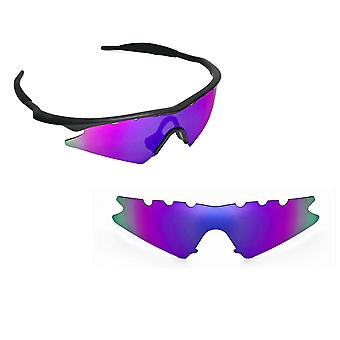 VENTED M Frame Sweep Replacement Lenses Polarized Purple by SEEK fits OAKLEY
