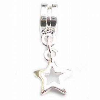 TOC BEADZ Star Dangle Slide-On and Slide-Off Charm Bead