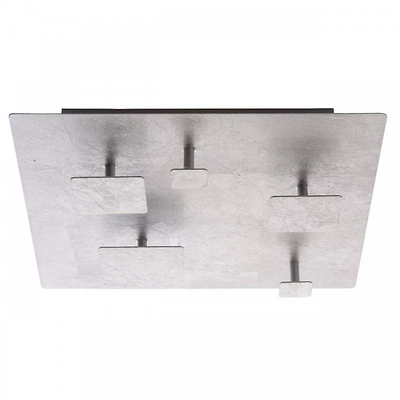 Led Square Flush Ceiling Light argent