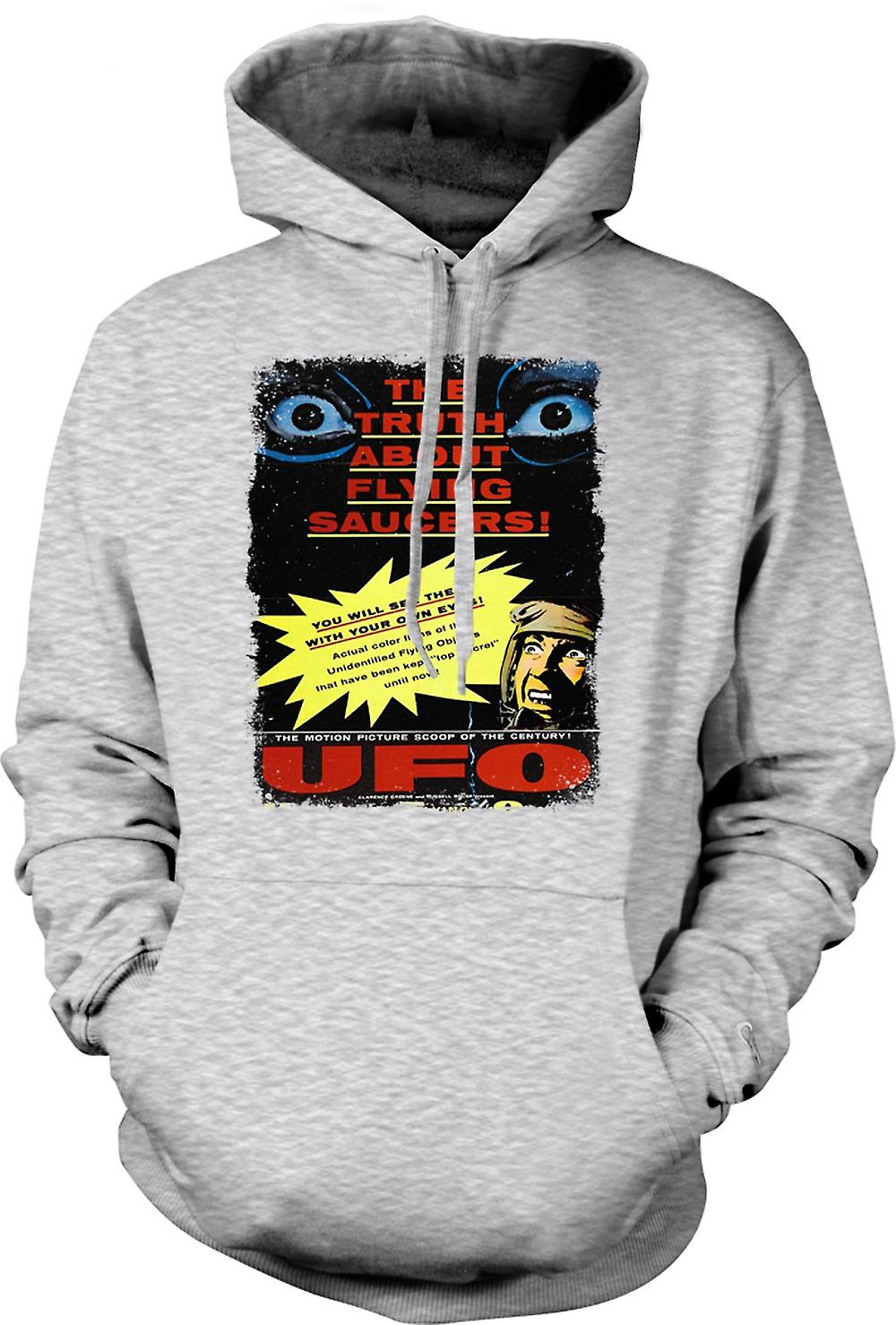 Mens Hoodie - Truth About Flying Saucers Kids