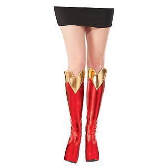 Supergirl Stiefelschäfte Superwoman DC Comics Superhelden Frauen Kostüm Abdeckungen
