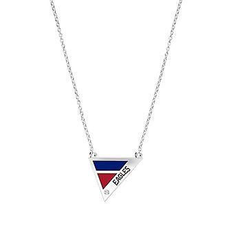 American University Eagles Inciso Diamante Geometrico Collana In Blu e Rosso