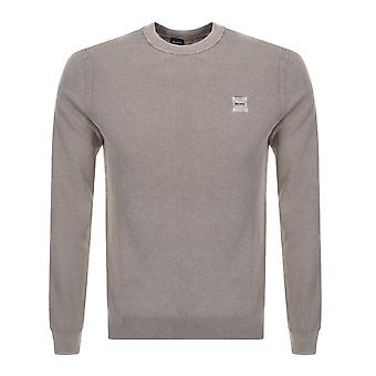 Hugo Boss Casual Men's Kalassyo Beige Knitted Jumper