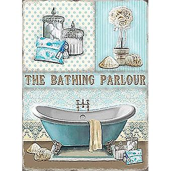 The Bathing Parlour small metal sign   (og 2015)