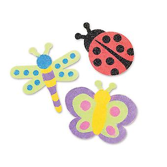 12 Beautiful Bugs Themed Sand Art Craft Kit for Kids | Kids Insect & Bug Crafts