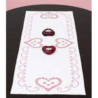 Stamped Table Runner Scarf 15