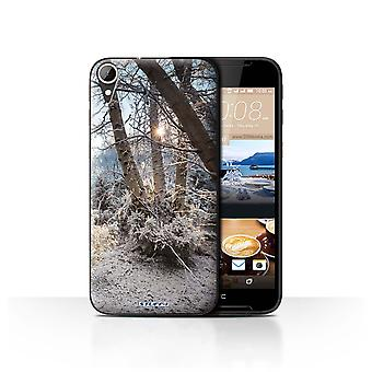 STUFF4 Case/Cover for HTC Desire 830/Frozen Trees/Winter Season