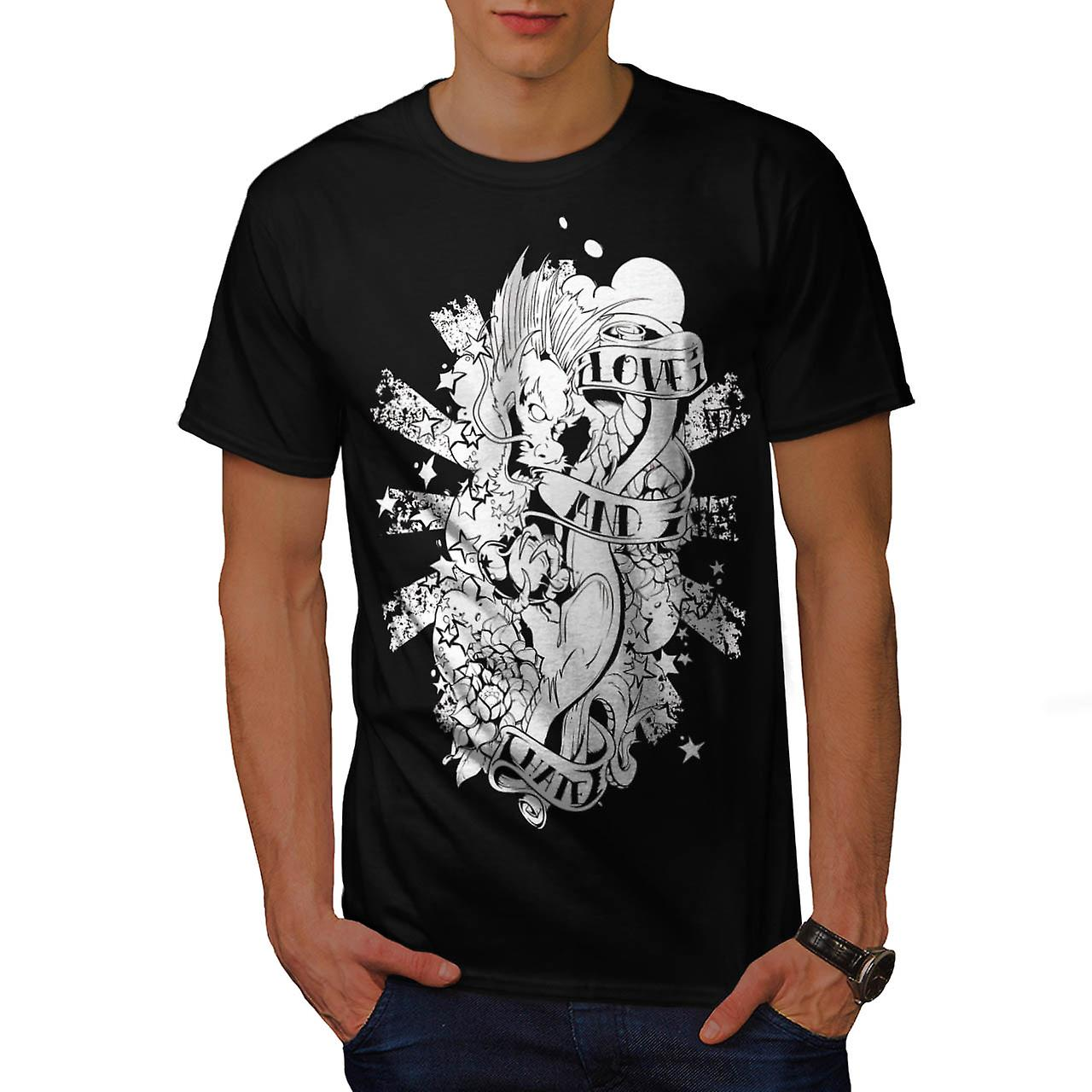 Love and Hate Dragon Throne Game Men Black T-shirt | Wellcoda
