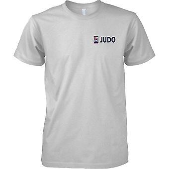 T-shirt cor de esportes judô RN logotipo 1 - marinha real