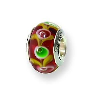 Sterling Silver Reflections Kids Brown Murano Glass Bead Charm