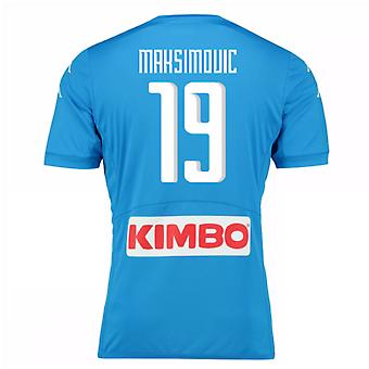 2016-17 Napoli Authentic Home Shirt (Maksimovic 19)