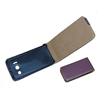 Cell phone cover case (flip) for Huawei Ascend Y300 purple