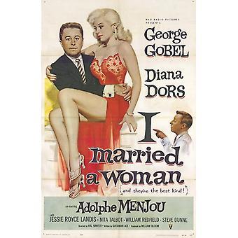 Me casé con un mujer Movie Poster (11 x 17)