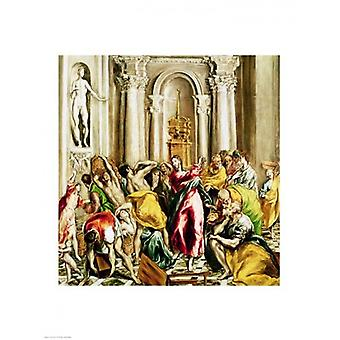 Jesus Driving the Merchants from the Temple Poster Print by El Greco