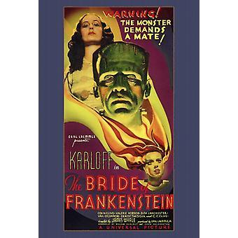 Die Braut von Frankenstein-Film-Plakat-Druck (27 x 40)