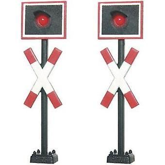Viessmann 5058A H0 Level crossing set for railroad crossing finished model