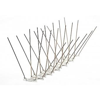 Propoint Wide Stainless Steel Pigeon Spikes For Ledges; Ridges And Roofs; 5 Metre Set