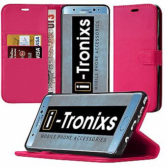 iTronixs LG G6 Wallet Case stand wallet PU Leather Wallet Elegant Classic Flip cover - Pink