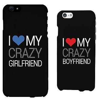 I Love My Crazy Boyfriend & Girlfriend - His and Her Matching Phone Cases for Couples
