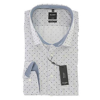 Olympus Luxor modern fit men's shirt with global Kent collar non-iron Gr. 43 marine